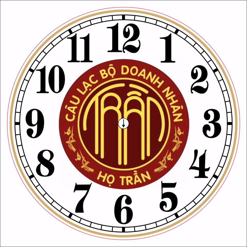 đồng hồ treo tường nhựa in logo