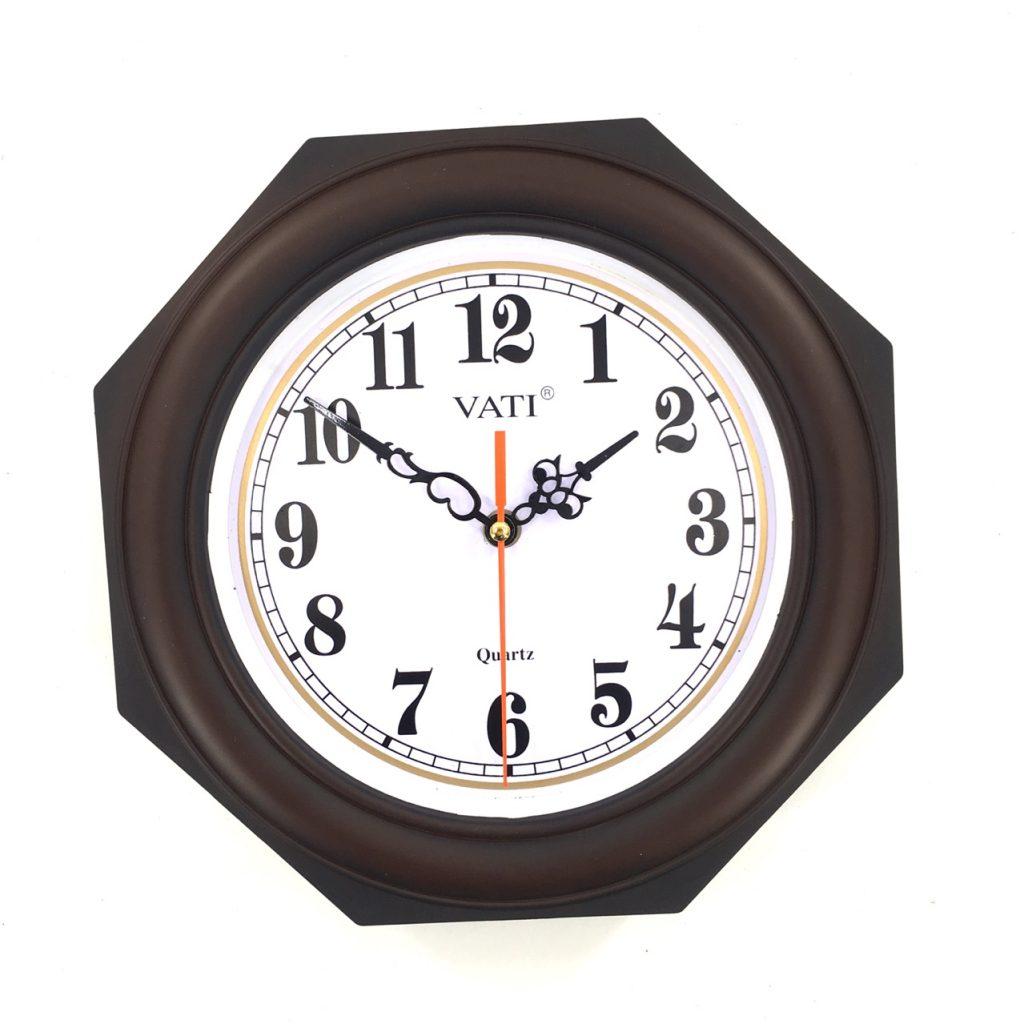 Đồng hồ treo tường hình bát giác F09