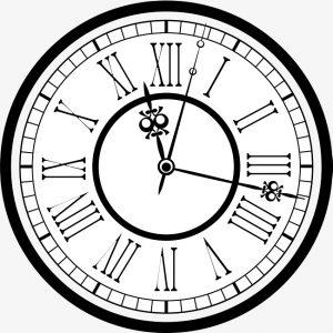 đồng hồ sử dụng số la mã