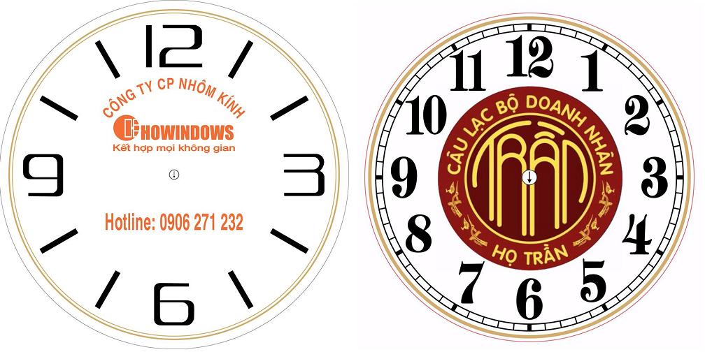In logo, in hình ảnh lên đồng hồ treo tường