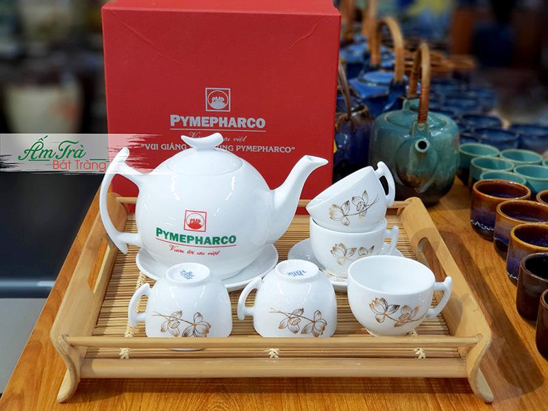 Ấm trà in logo tại xưởng