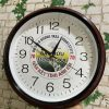 Đồng hồ treo tường in logo 30cm sơn gỗ -( HLX) làm quà tặng doanh nghiệp (2)