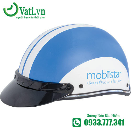 Mũ Nón Bảo Hiểm In Logo MOBISTAR Làm Quà Tặng