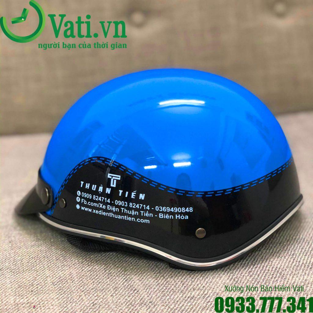 Cơ sở sản xuất mũ nón bảo hiểm in logo chất lượng hàng đầu Vati