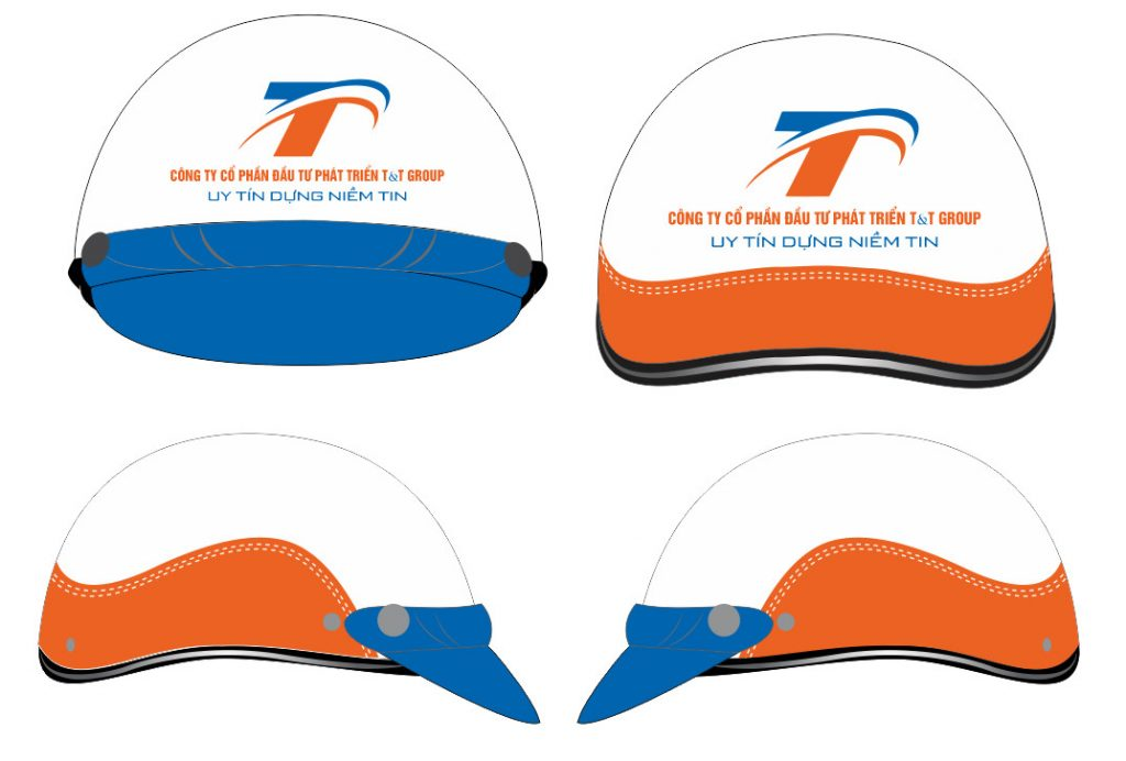 Những điểm cần lưu ý khi in logo lên mũ nón bảo hiểm