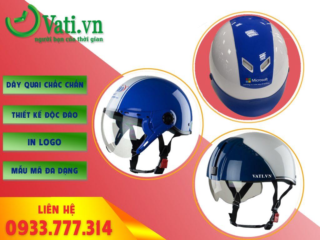 Xưởng sản xuất mũ nón bảo hiểm in logo theo yêu cầu Vati