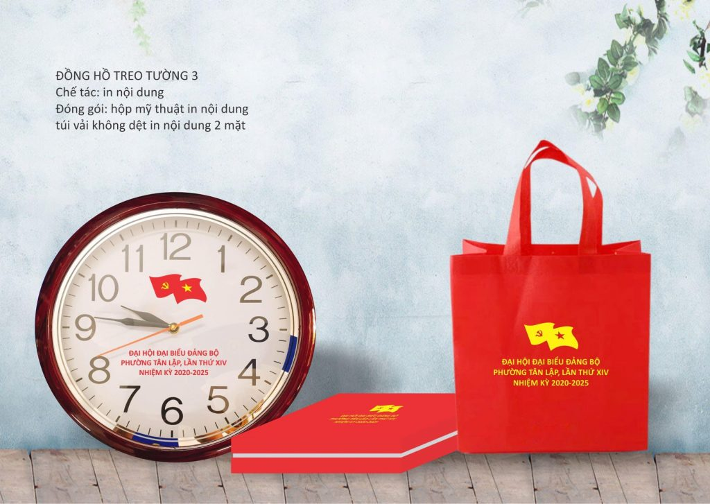 Xưởng sản xuất đồng hồ treo tường in ấn logo theo yêu cầu VATI