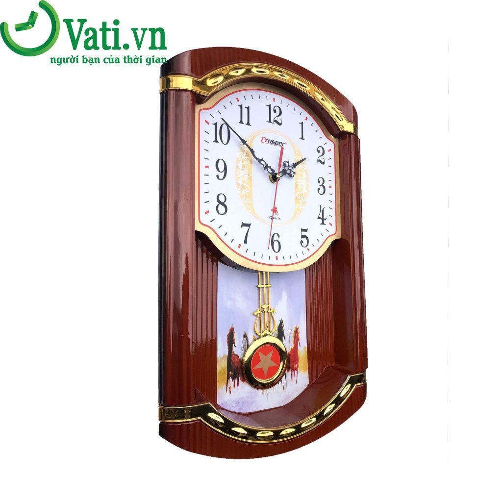Đồng hồ treo tường in logo mẫu quả lắc G05