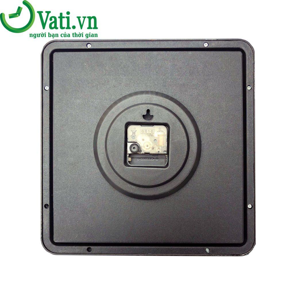 Đồng hồ treo tường in logo mẫu vuông giả gỗ G06