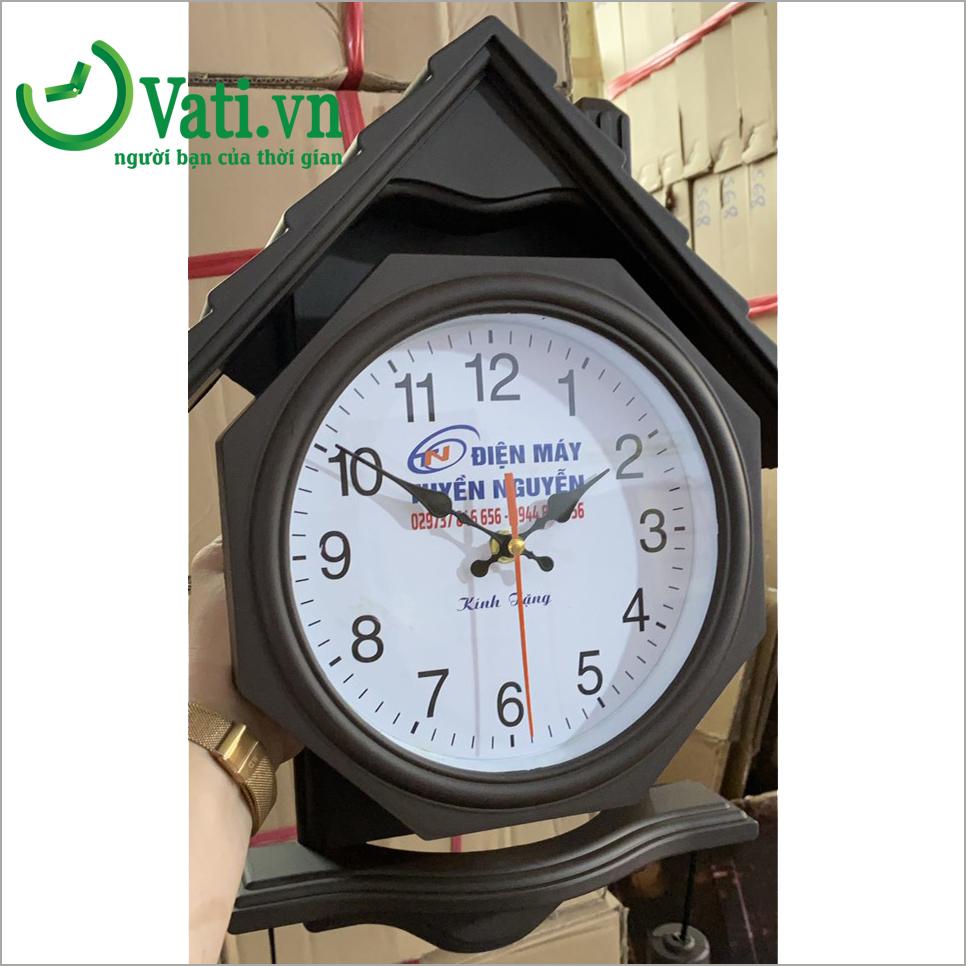 Đồng hồ treo tường in logo mẫu ngôi nhà G07