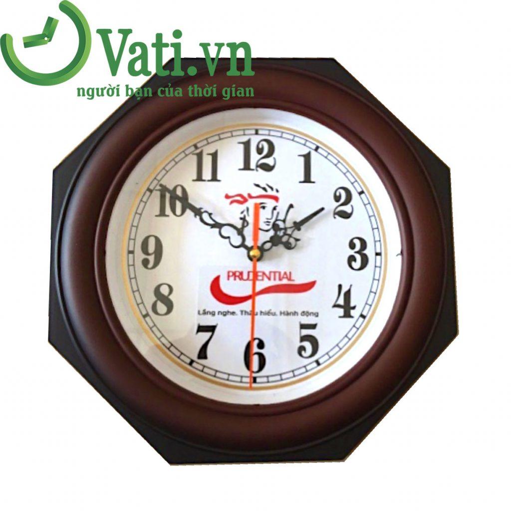 Đồng hồ treo tường in logo làm quà tặng Vati N01