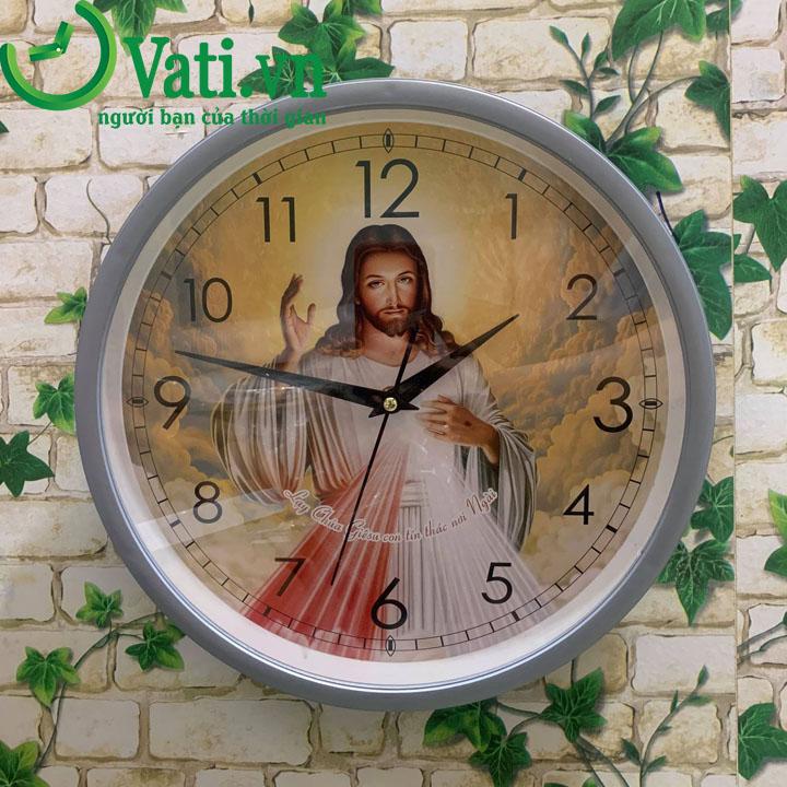Đồng hồ treo tường in logo hình ảnh sắc nét 30x30cm - Vati