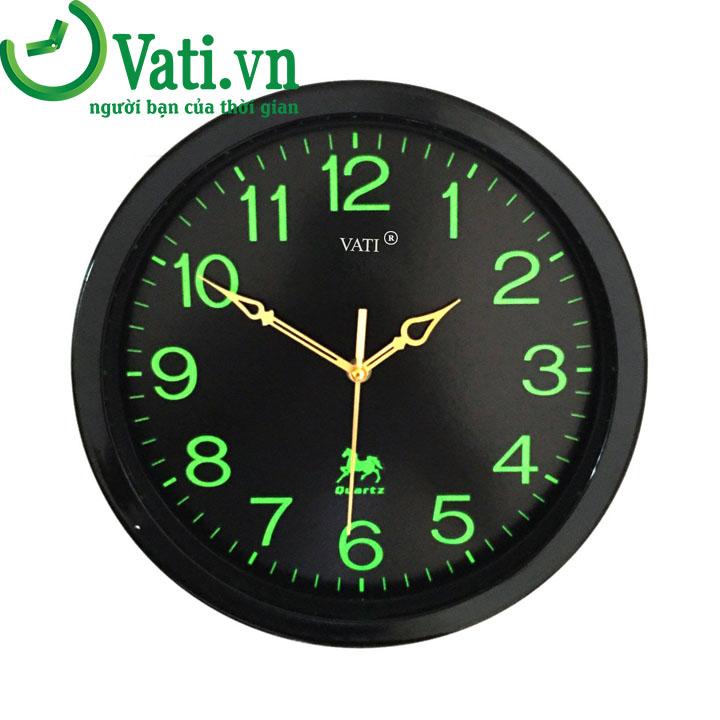 Đồng hồ treo tường in logo 30x30cm dạ quang